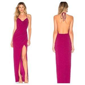 Michael Costello x Revolve Semira Gown in Purple